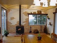 写真:No.26邸-夢の薪ストーブがついに我が家に!壁のブリックタイルも素敵