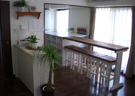 写真:No.56邸-子育てで掃除放棄寸前!?の2LDKをオシャレなカフェ風に。