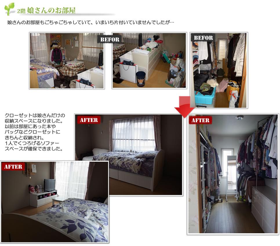 画像:娘さんのお部屋ビフォーアフター