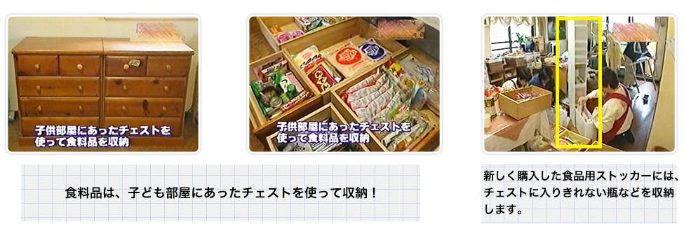 新しく購入した食品用ストッカーには、チェストに入りきれない瓶などを収納します。