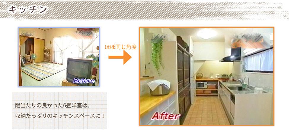 陽当たりの良かった6畳洋室は、収納たっぷりのキッチンスペースに!